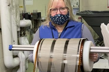 Sue Lewis with printed glass roll copy